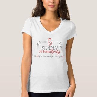 白いBellaのV首のTシャツ Tシャツ