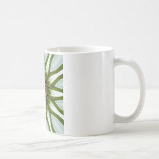 白いConeflowerの曼荼羅のイメージ12 コーヒーマグカップ