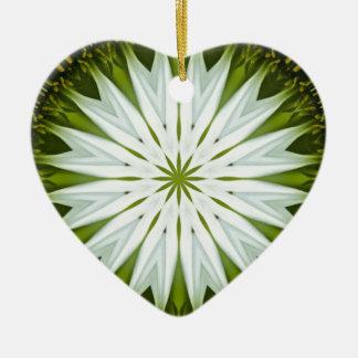 白いConeflowerの曼荼羅のイメージ9 セラミックオーナメント