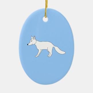 白いFox. セラミックオーナメント