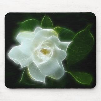 白いGardeniaの花の植物 マウスパッド