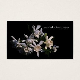 白いGardeniasの花の名刺 名刺