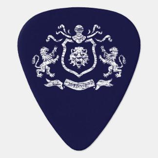 白いHeraldicライオンのギターピック ギターピック