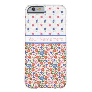 白いiPhone 6の穹窖の箱の民芸の花模様 Barely There iPhone 6 ケース