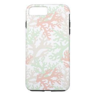 白いiPhone 7のプラスの場合のパステル調の珊瑚 iPhone 8 Plus/7 Plusケース