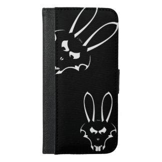 白いJ.Rabbitのロゴの電話箱 iPhone 6/6s Plus ウォレットケース
