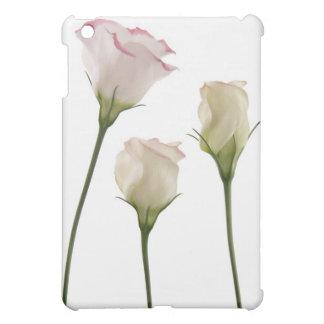 白いlisianthusの花、トリオ iPad miniケース