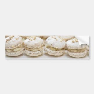 白いMacaroons バンパーステッカー