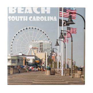 白いMyrtle Beachの遊歩道のサウスカロライナの休暇 タイル