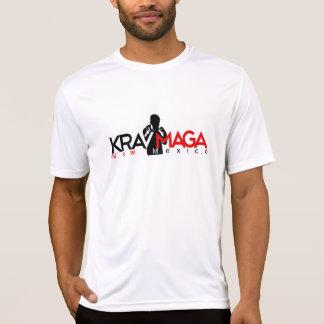 白いNM Krav Magaの性能のワイシャツ Tシャツ