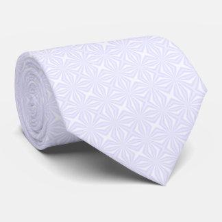 白いSquiggly正方形 ネクタイ