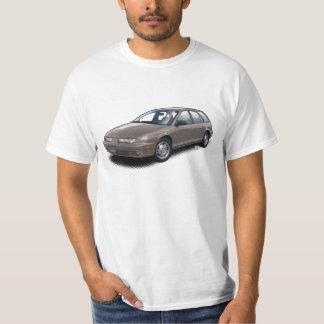 白いTシャツのブラウンGEN 2土星SW2 Tシャツ