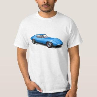 白いTシャツの熱い青の1965年のバンシープロトタイプ Tシャツ