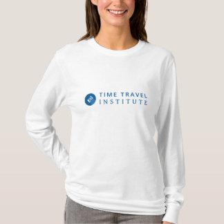白いTTIのロゴの長袖のTシャツ Tシャツ