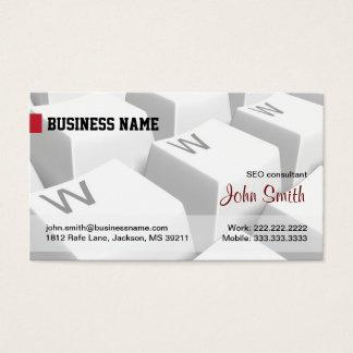 白いWWWのキーボードのインターネットの名刺 名刺
