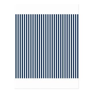 -白およびオックスフォード青縞で飾ります ポストカード