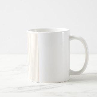 -白およびシャンペン縞で飾ります コーヒーマグカップ