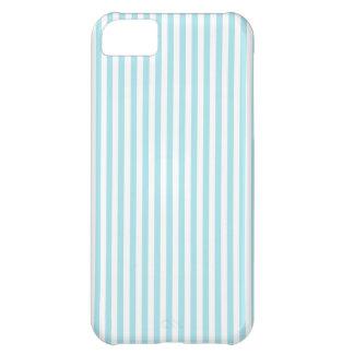 -白およびブリザードの青縞で飾ります iPhone5Cケース