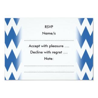 白および濃紺のジグザグ形 カード