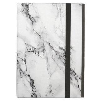 白および灰色によって大理石模様をつけられる石造りパターン iPad AIRケース