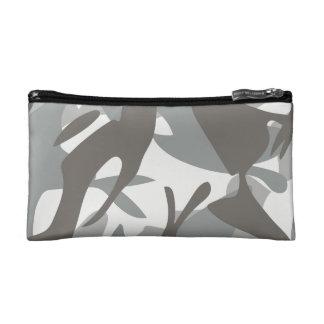 白および灰色のカムフラージュII コスメティックバッグ