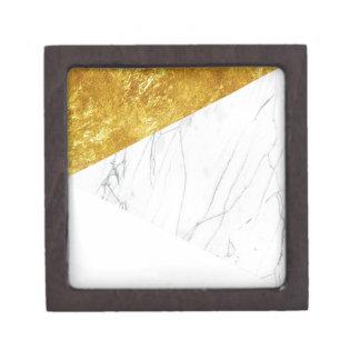 白および金ゴールドの大理石 ギフトボックス