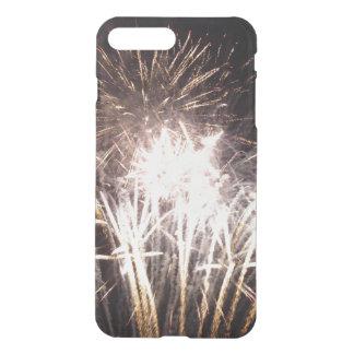 白および金ゴールドの花火I iPhone 8 PLUS/7 PLUS ケース