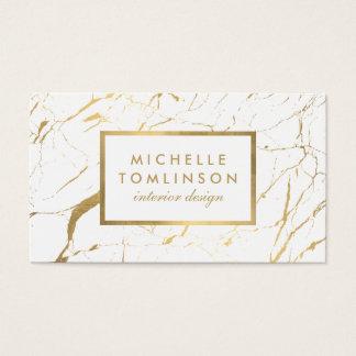 白および金ゴールド大理石デザイナー名刺 名刺