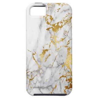 白および金ゴールド都市大理石にパターン向くこと iPhone SE/5/5s ケース