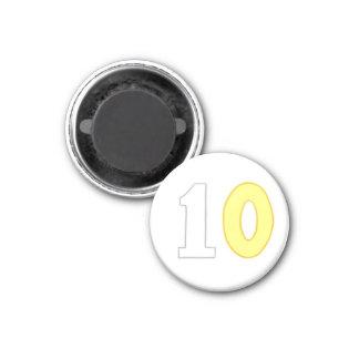 白および黄色の第10磁石 マグネット