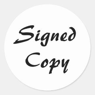 白および黒によって署名されるコピー ラウンドシール