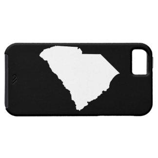 白および黒のサウスカロライナ iPhone SE/5/5s ケース