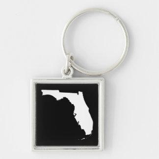 白および黒のフロリダ キーホルダー