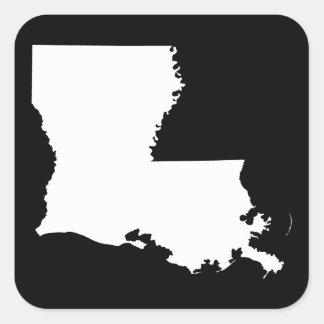 白および黒のルイジアナ スクエアシール