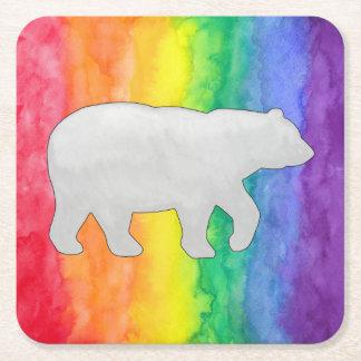 白か灰色は虹の洗浄紙のコースターに関係します スクエアペーパーコースター