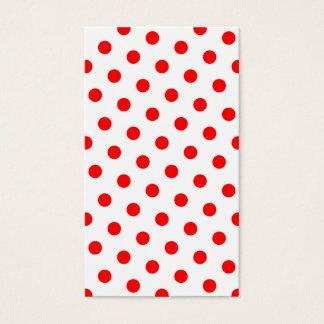 白くおよび赤い水玉模様 名刺