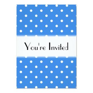 白くおよび青の水玉模様パターン カード