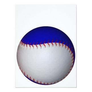 白くおよび青の野球/ソフトボール 14 X 19.1 インビテーションカード