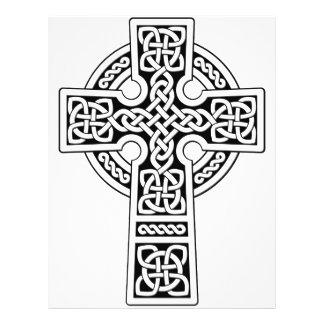 白くおよび黒いケルト十字ライト チラシ