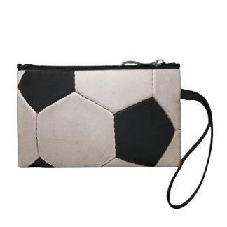白くおよび黒いサッカーボール コインパース