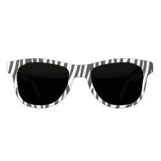 白くおよび黒いシマウマパターン サングラス