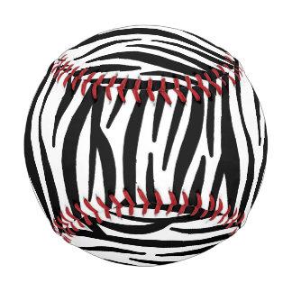 白くおよび黒いシマウマパターン 野球ボール