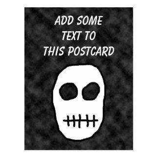 白くおよび黒いスカル。 原始 ポストカード