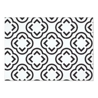 白くおよび黒いパターン カード