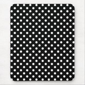 白くおよび黒い水玉模様のマウスパッド マウスパッド