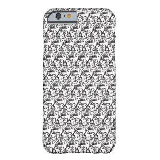 白くおよび黒い継ぎ目が無い- iPhone6ケース Barely There iPhone 6 ケース