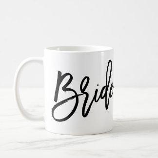 白くおよび黒い花嫁のマグの平野 コーヒーマグカップ