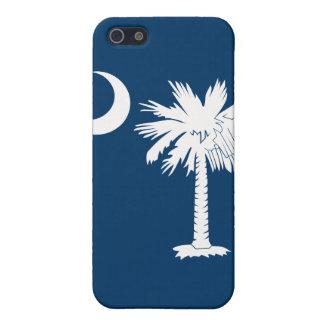 白くか青のパルメットの月のiphone 4ケース iPhone SE/5/5sケース