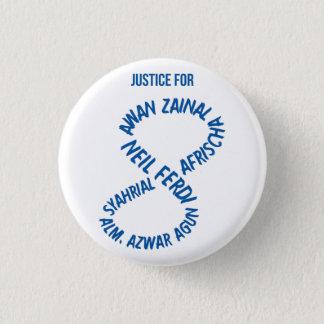 白くか青#JusticeForTheInnocent 8 3.2cm 丸型バッジ