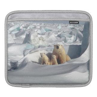 白くまのカブスの北極野性生物のiPadの袖 iPadスリーブ